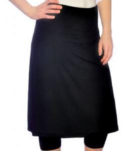 Schwimmrock mit Leggings in schwarz