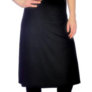 Schwimmrock mit Leggings für Mädchen - schwarz