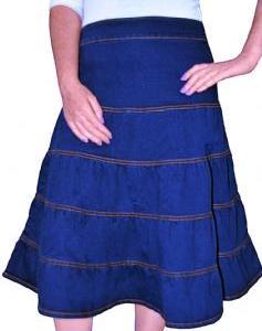 Kürzerer Jeans-Rock für Frauen in blau